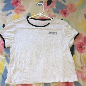 Justice Tops - comfy, casual, cute tee shirt! Only worn twice!
